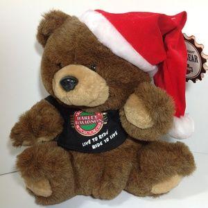 Harley Davidson Christmas Plush Bear NWT!